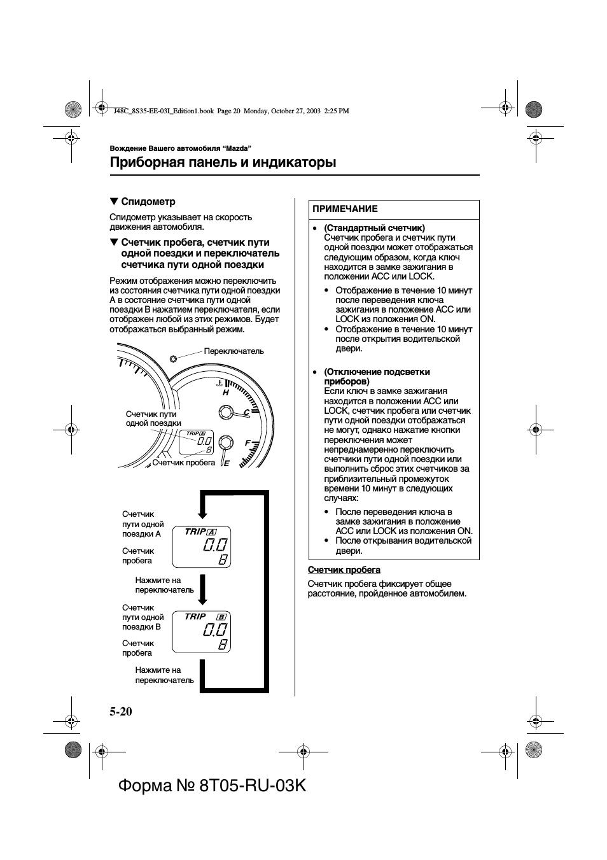 Приборная панель и индикаторы