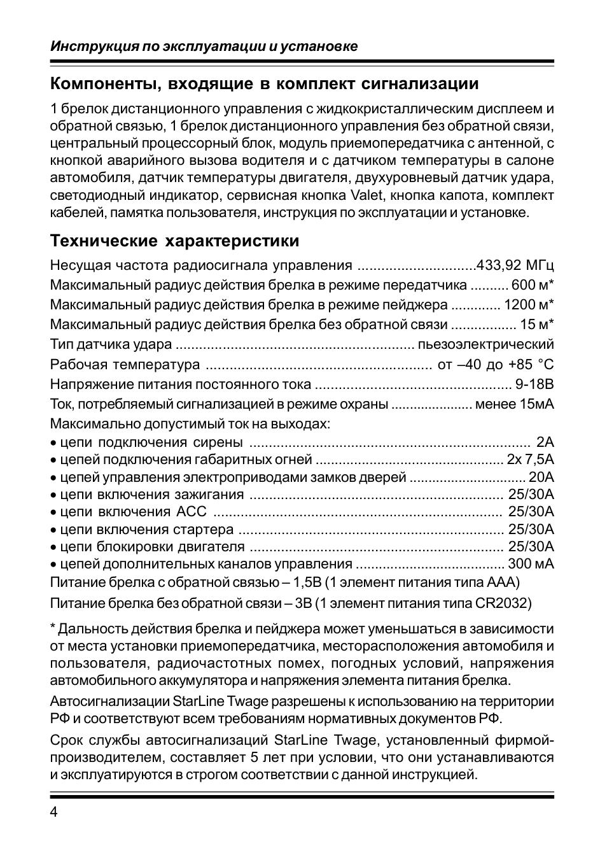 Инструкция по эксплуатации и установке Компоненты, входящие...