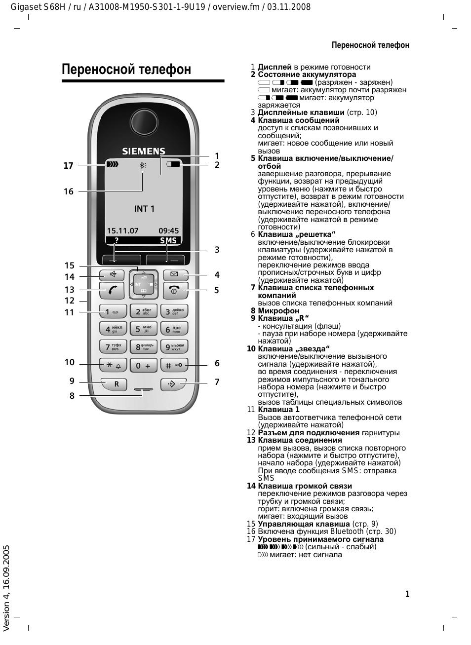 Переносной телефон