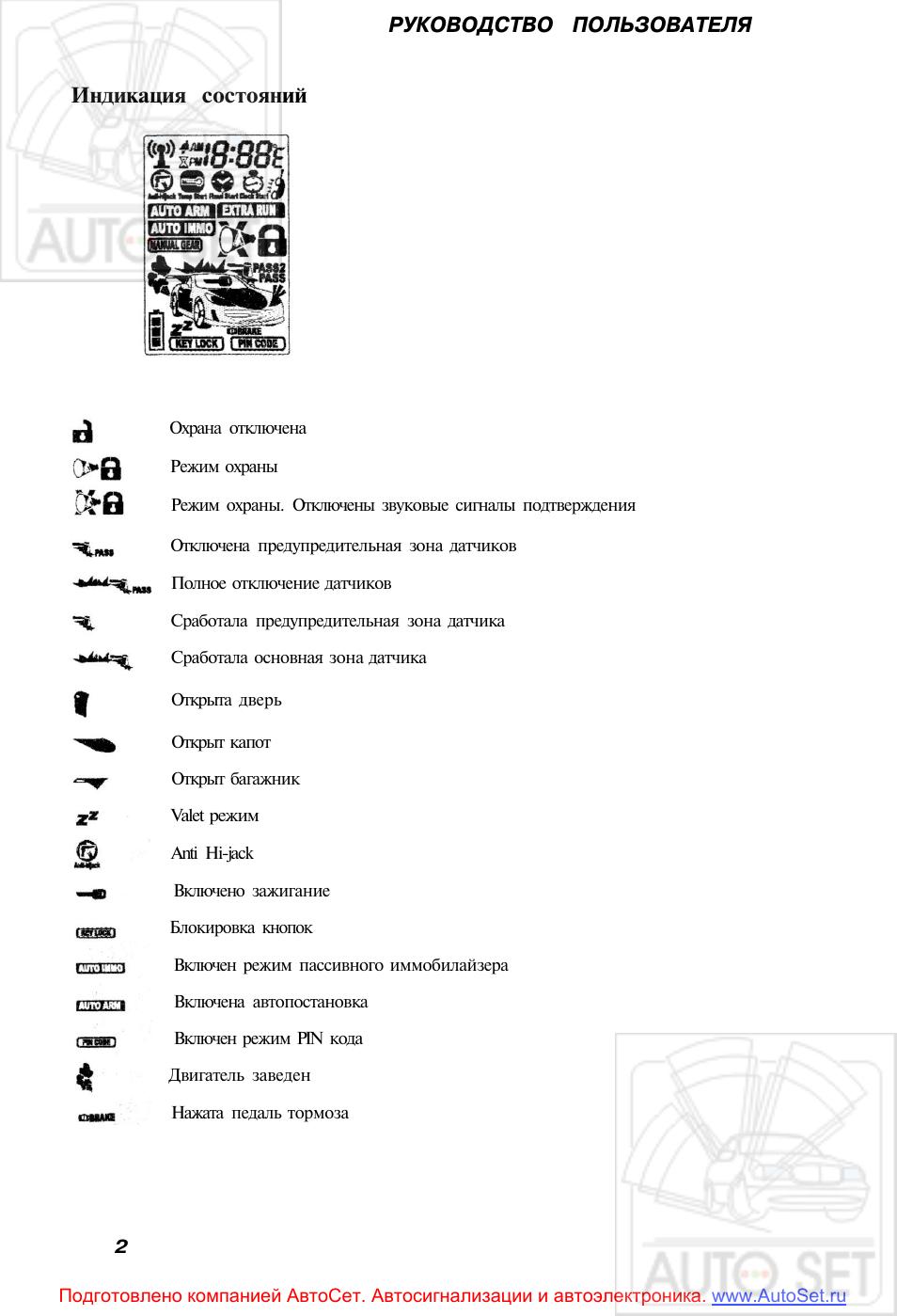 Индикация состояний руководство пользователя